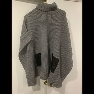 Michael Kors poncho sweater women's L